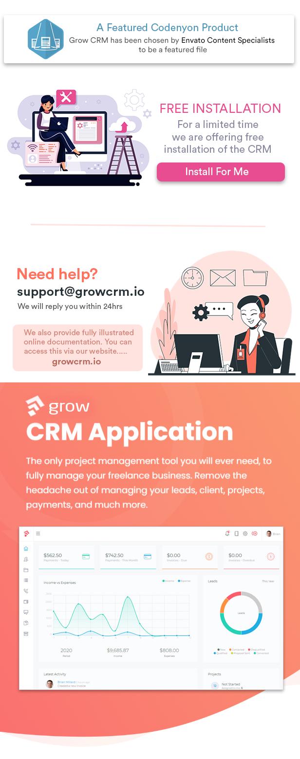 Grow CRM - Gerenciamento de Projetos Laravel - 1